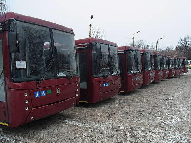 В Тулу поставлено 50 пассажирских автобусов НЕФАЗ