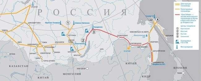 освоение газовых ресурсов и формирование газотранспортной системы на Востоке России