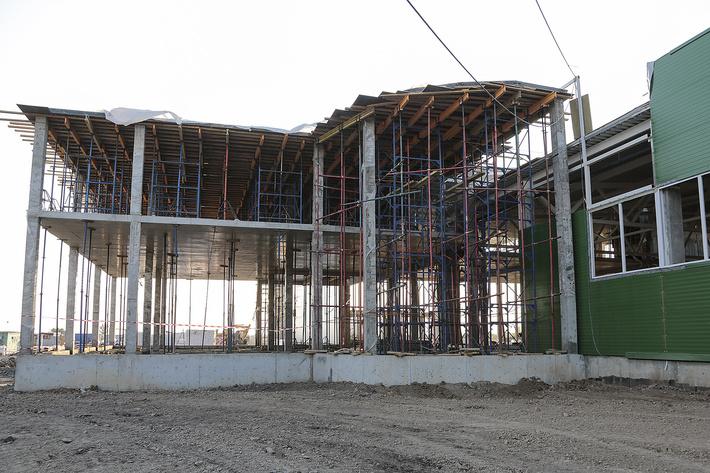 строительство комбината август 2015 г.