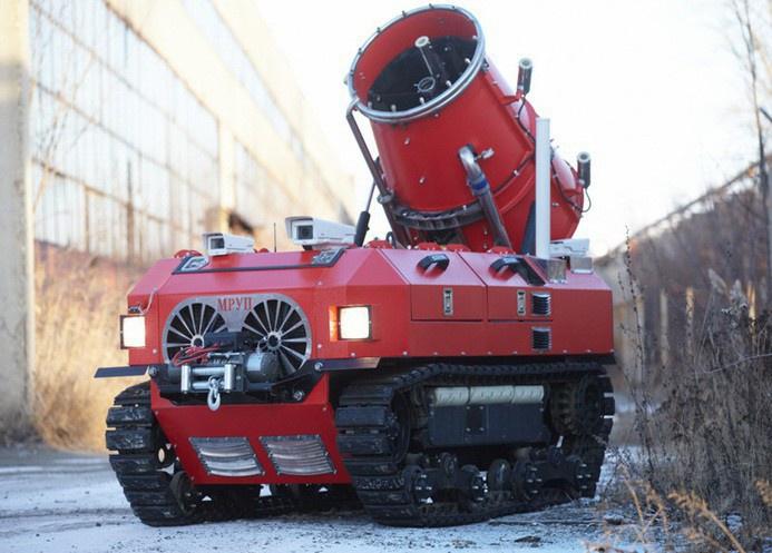 Мобильная роботизированная установка пожаротушения Каскад