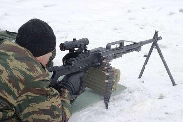 """ведение стрельбы из пулемета """"Печенег"""" с прицелом ПСУ"""