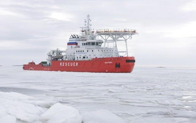 МАСС «Балтика», ледовые испытания, Карское море, март 2015 года