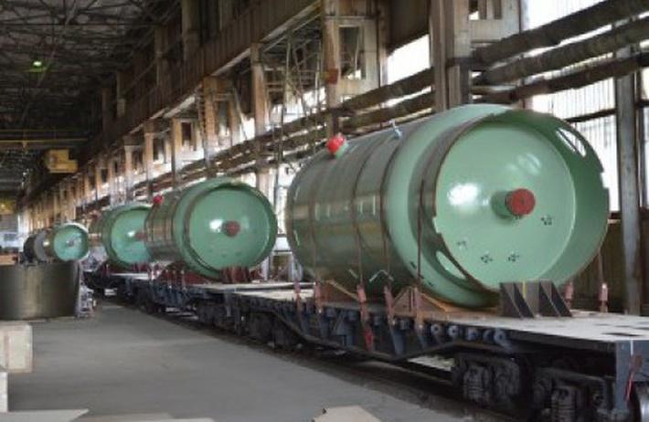 Ёмкости системы аварийного охлаждения активной зоны (САОЗ) для энергоблока №1 Белорусской АЭС в цехе Петрозаводскмаша