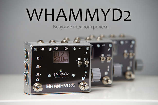 Smirnov Electronics WhammyD2 - MIDI controller for the Digitech Whammy IV/V/DT