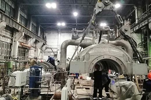 турбоагрегат №1 во время реконструкции