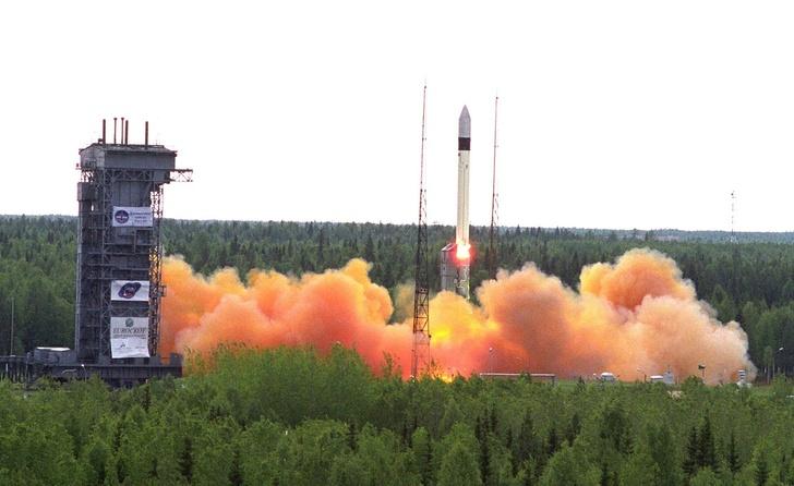 запуск ракеты-носителя «Рокот» с космодрома Плесецк