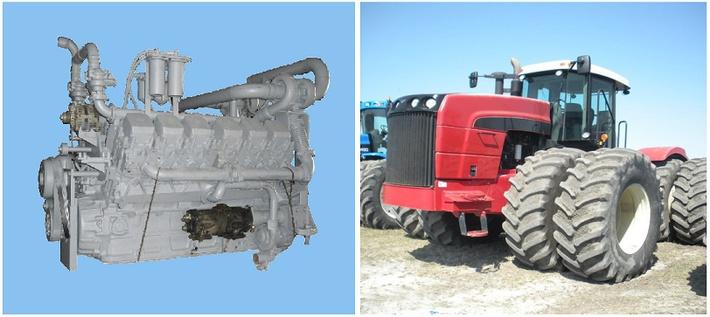 Установка двигателя ЯМЗ на Buhler Versatile HTT