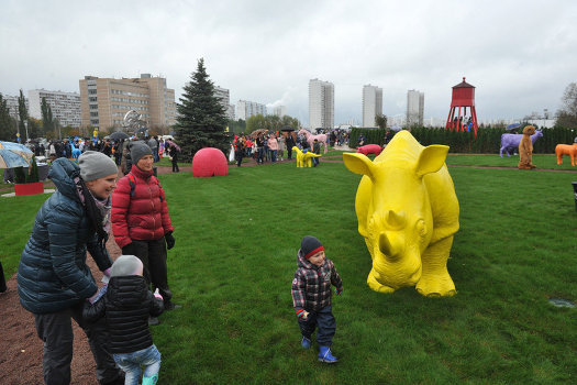Детский парк «Буратино» в районе Новопеределкино в Западном административном округе Москвы