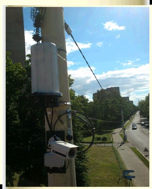 Система видеонаблюдения на основе интеллектуальной распределительной сети передачи электроэнергии и данных в Дубне.