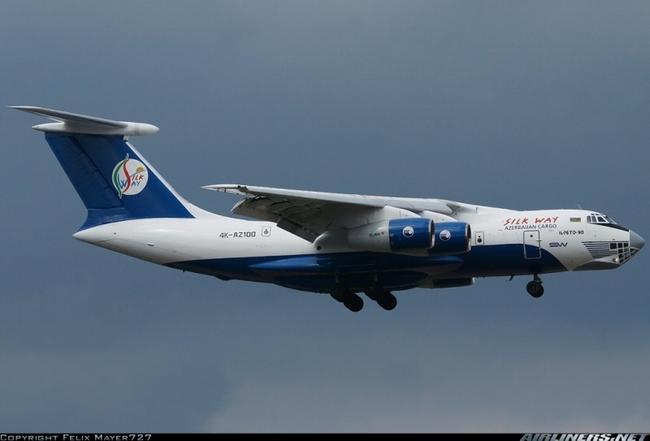Ил-76ТД-90 азербайджанской грузовой авиакомпании «Silk Way Airlines».