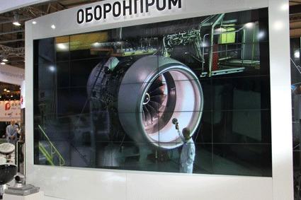 """Прямая видеосвязь на выставке """"Технологии в машиностроении-2012"""": двигатель-демонстратор технологий на испытательном стенде"""