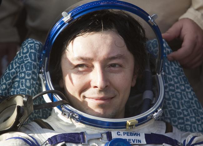 Бортинженер ТПК «Союз ТМА-04М» Сергей Ревин. 17.09.2012 г.