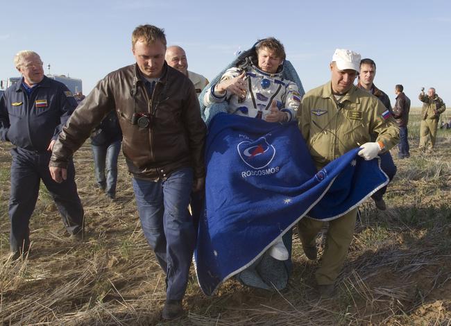КомандирТПК «Союз ТМА-04М» Геннадий Падалка. 17.09.2012 г.