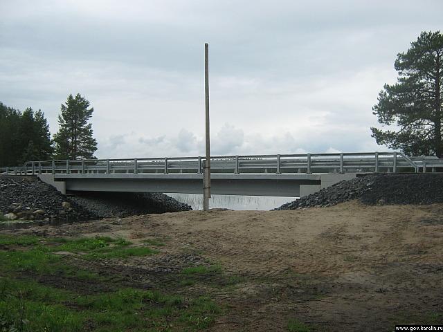 Новый мост в поселке Пертозеро