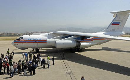 Самолет МЧС РФ доставил в Ливан гуманитарную помощь для сирийских беженцев