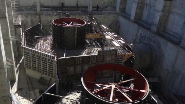 Площадка строящейся Гоцатлинской ГЭС