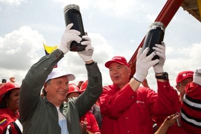 церемония добычи первой нефти на блоке Хунин-6