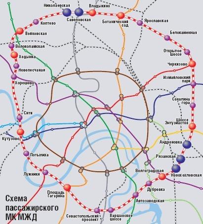 Малое Кольцо Московской железной дороги /МКМЖД/ после реконструкции, которая завершится к концу 2015 года...