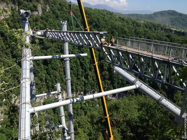 Опора подвесного моста