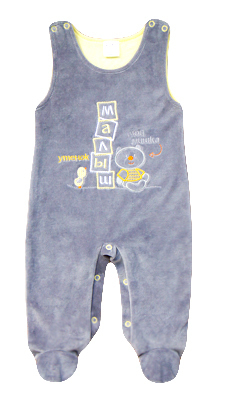 детская одежда из велюра, полукомбинезон