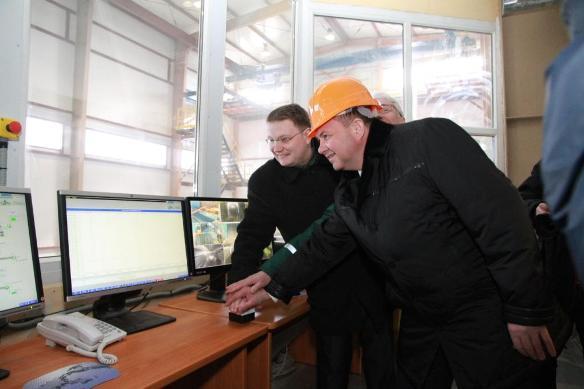запуск нового цеха на Соломбальском целлюлозно-бумажном комбинате