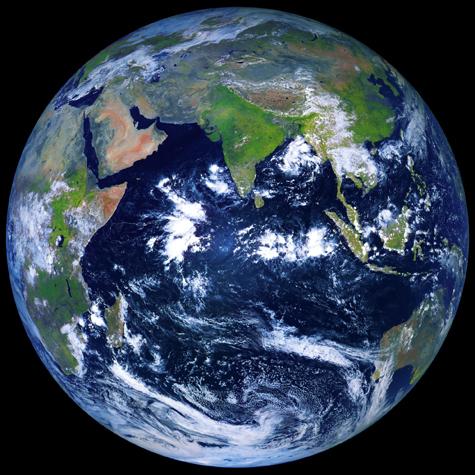 """Вид земли из космоса с помощью спутника """"Электро-Л"""""""