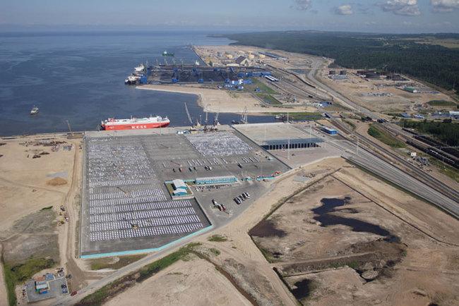 Панорамный вид порта