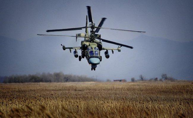 Ка-52 на авиабазе Военно-воздушных сил России «Черниговка» (Приморский край)