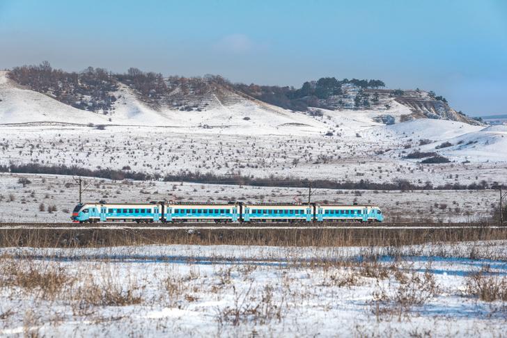Крым, перегон Почтовая — Самохвалово, 19 января 2021 г