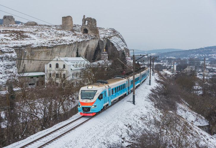 Севастополь. перегон Инкерман-II — Мекензиевы Горы.19 января 2021 г.