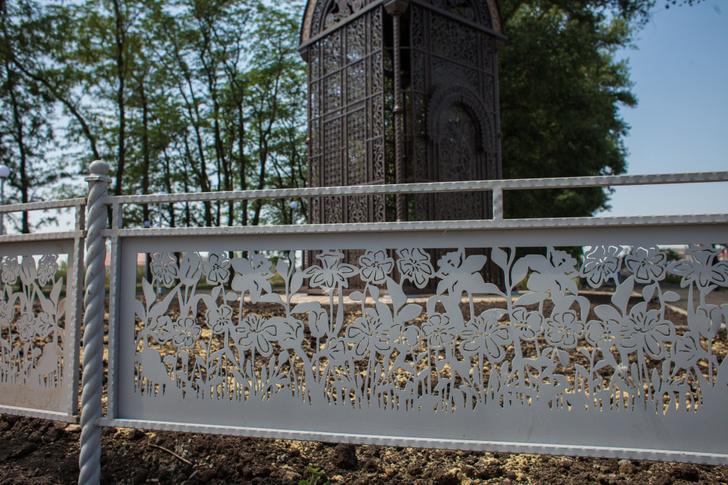 ограда часовни в Гармонии