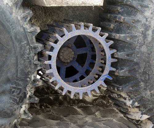 Тяговый электродвигатель для болотохода с электрической трансмиссией