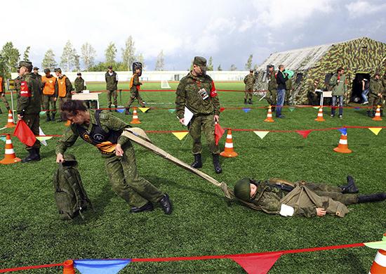 Сборная России заняла все первые места по специальной подготовке в международном конкурсе «Военно-медицинская эстафета-2017»
