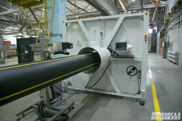 Новую линию открыли на вологодском заводе полиэтиленовых труб