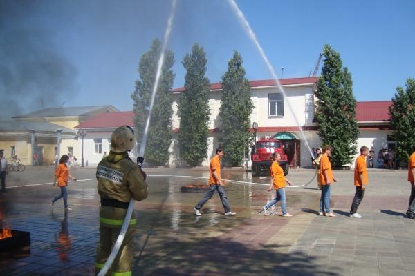 ритуал посвящения в добровольные пожарные Оренбургской области (июнь 2012 г.)