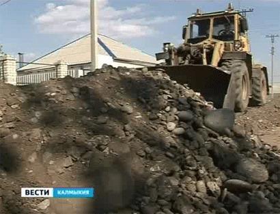 В северо-западной части Элисты ведется строительство новых дорог