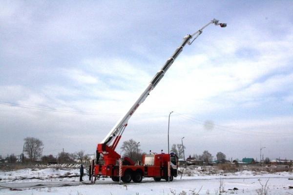 Варгашинский завод ППСО успешно испытал пожарный пеноподъемник для Арктики