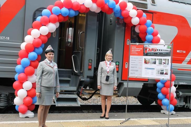 Новые плацкартные вагоны, включённые в состав фирменного поезда №21/22 Ульяновск – Москва