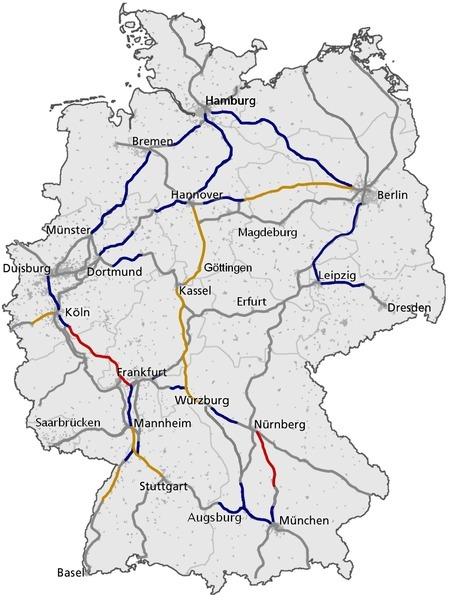 сети железных дорог в