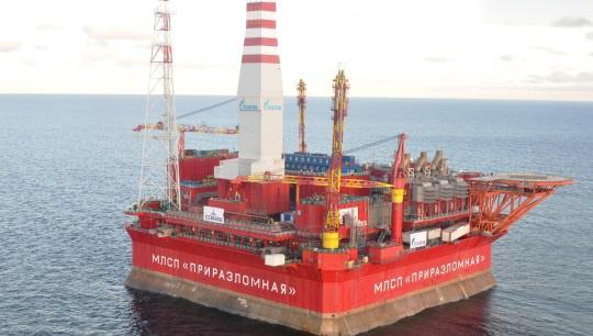 Российская нефть, добываемая на месторождении, получила название ARCO (Arctic oil). Фото: www.gazprom.ru