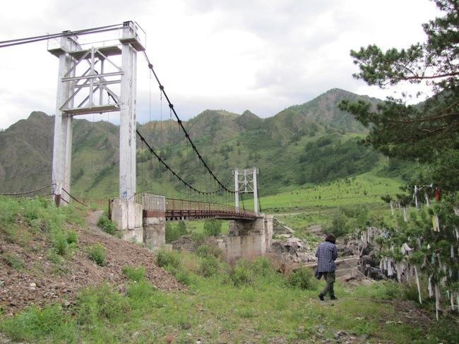 Мост через Катунь у урочища Ороктой.