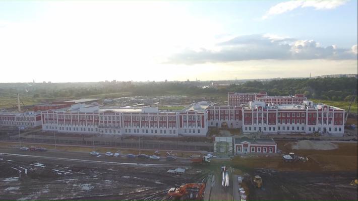 Тульское суворовское училище с высоты птичьего полета. ВИДЕО