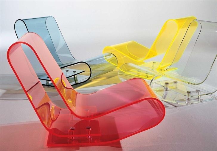 Кресла из поликарбонатного стекла