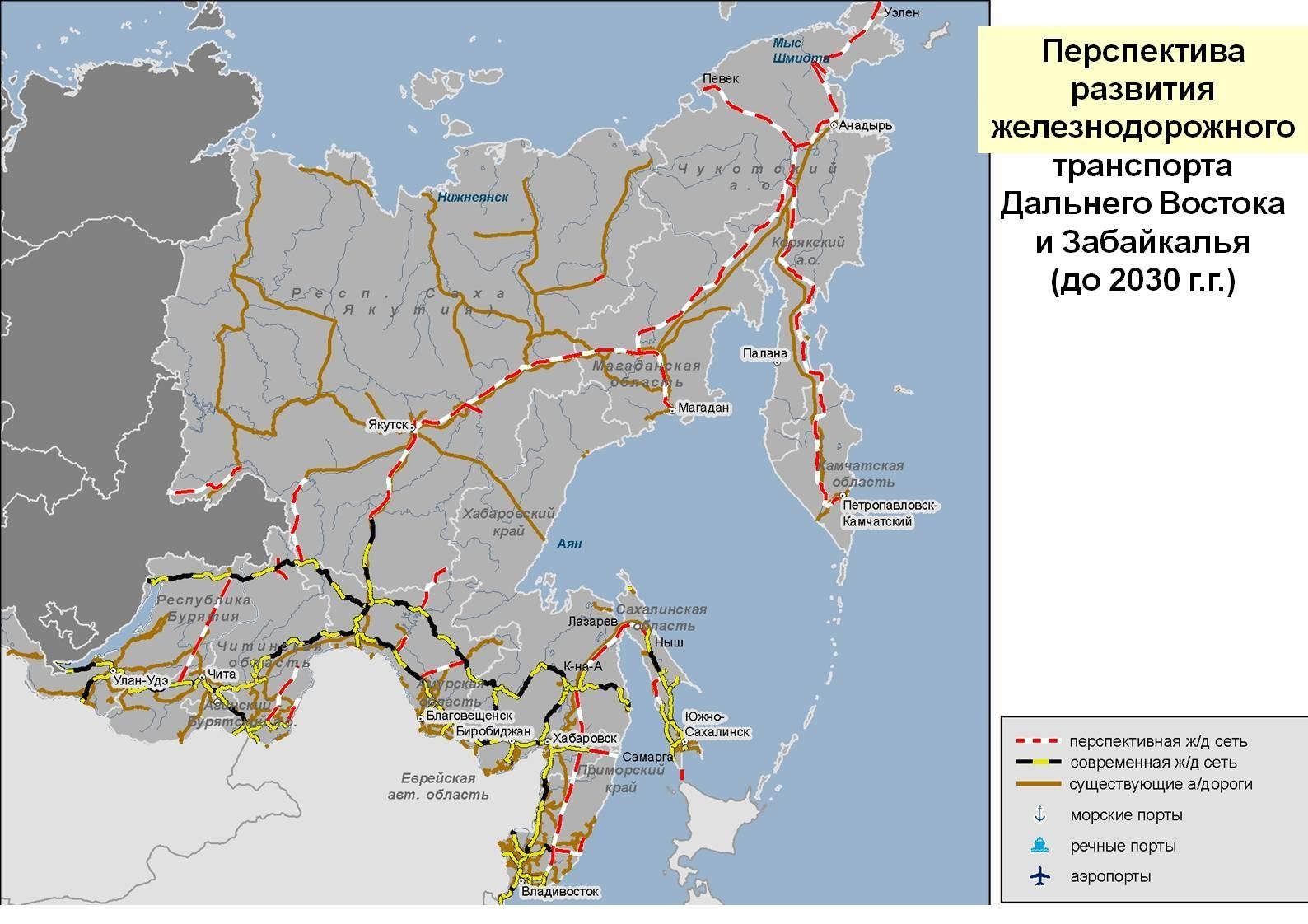 Схема южных железных дорог