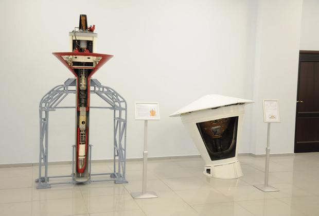 """Пенетратор """"Марс-96"""" в разрезе в музее завода Фото: пресс-служба НПО имени С.А. Лавочкина"""