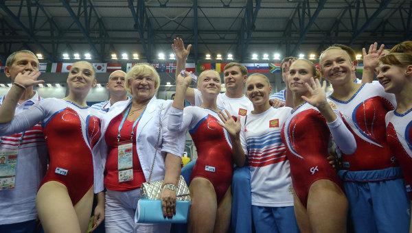 Студенческая сборная России по спортивной гимнастике в женском командном зачете