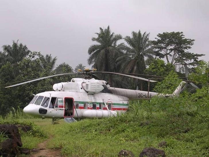 Вертолет Ми-8 в Экваториальной Гвинее. Архивное фото
