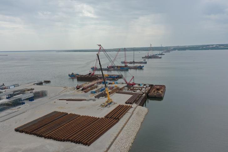 На Волжском мосту в Самарской области стартовали работы по надвижке пролётов