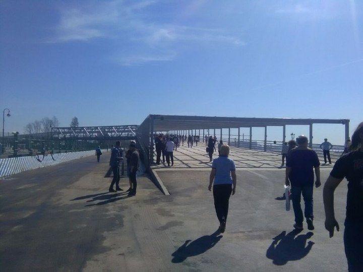 В Санкт-Петербурге на Крестовском острове открылся второй пешеходный мост