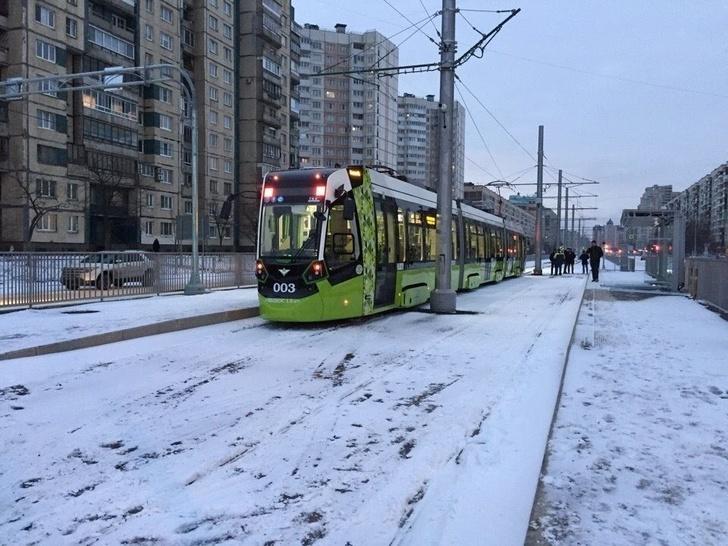 В Санкт-Петербурге открыли новый участок частной трамвайной линии